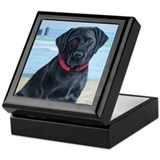 Black Lab on Beach Keepsake Box