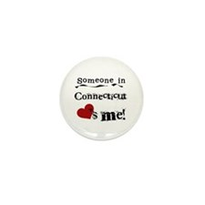 Someone in Connecticut Mini Button (100 pack)
