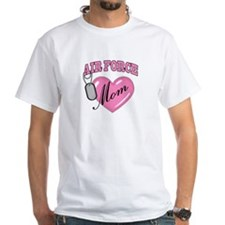 Air Force Mom Pink Heart N Dog Tags - Shirt