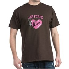 Air Force Mom Pink Heart N Dog Tags - T-Shirt