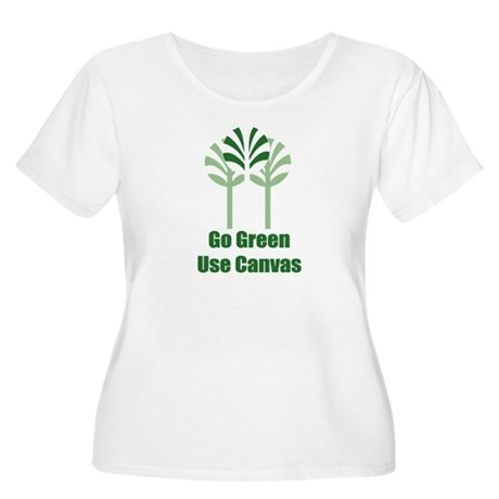 Go Green Women's Plus Size Scoop Neck T-Shirt