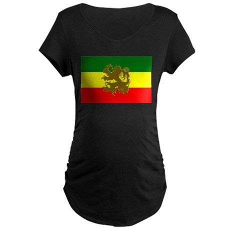 Roots Reggae Rasta Maternity Dark T-Shirt