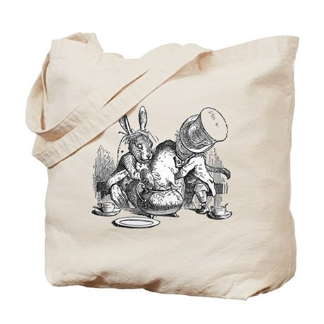 Sleepy Dormouse Tote Bag