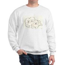 Samoyed Puppies Sweatshirt