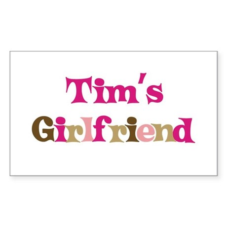 Tim's Girlfriend Rectangle Sticker
