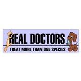 Real Doctors Bumper  Bumper Sticker