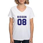 Bisson 08 Women's V-Neck T-Shirt