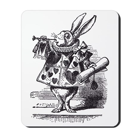 White Rabbit 2 Mousepad