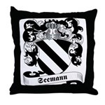 Seemann Family Crest Throw Pillow