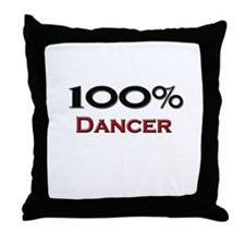 100 Percent Dancer Throw Pillow