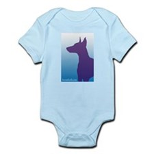 Sky Blue Doberman Infant Creeper