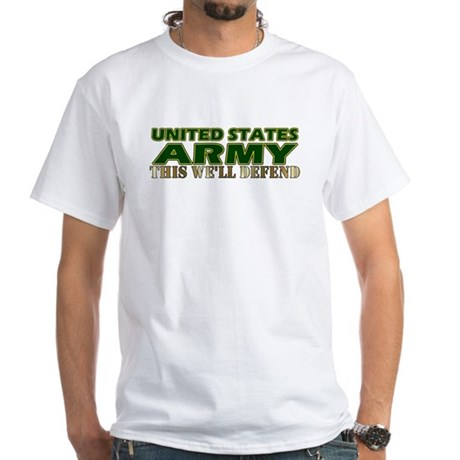 United States Army White T-Shirt
