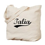 Vintage Talia (Black) Tote Bag