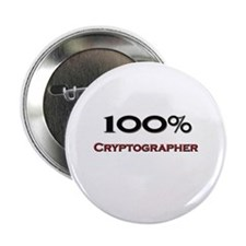 """100 Percent Cryptographer 2.25"""" Button (10 pack)"""