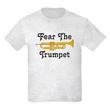Fear The Trumpet Music Kids Light T-Shirt
