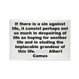 Funny Life quotes Rectangle Magnet