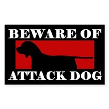 Beware of Attack Dog Porcelaine Decal