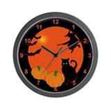 Harvest Moon Halloween Wall Clock