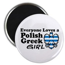 Polish Greek Girl Magnet