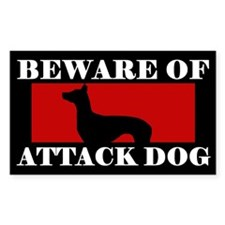 Beware of Attack Dog Pharaoh Hound Decal