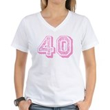 Pink 40 Years Old Birthday Shirt