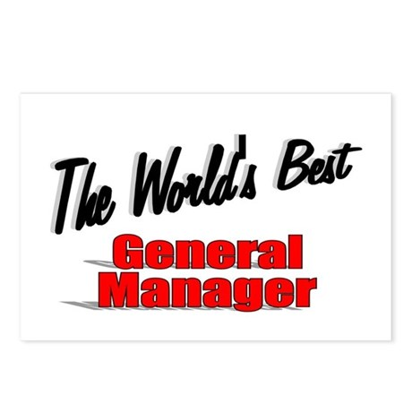 &quot;The World's Best General Manager&quot; Postcards (Pack