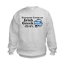 Irish Greek Girl Sweatshirt