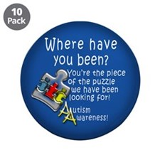 "Autism Awareness 3.5"" Button (10 pack)"