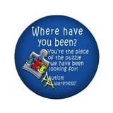 "Autism Awareness 3.5"" Button"