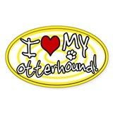 Hypno I Love My Otterhound Sticker Ylw
