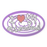 Hypno I Love My Otterhound Sticker Purp