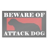 Beware of Attack Dog Otterhound Decal