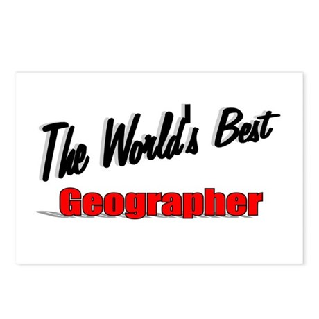 """The World's Best Geographer"" Postcards (Package o"