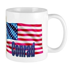 Conrad Personalized USA Flag Gift Mug