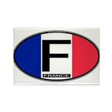 France Oval Colors Rectangle Magnet