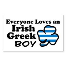 Irish Greek Boy Rectangle Decal