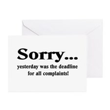 complaints Greeting Cards (Pk of 20)