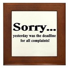 complaints Framed Tile