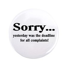 "complaints 3.5"" Button (100 pack)"