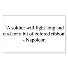 A soldier will fight long and Sticker (Rectangular