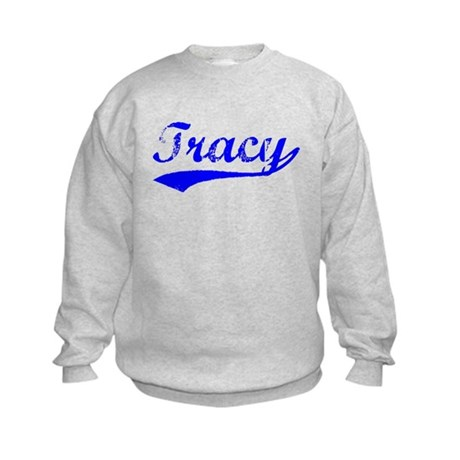 Vintage Tracy (Blue) Kids Sweatshirt