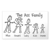 The Ass Family! Rectangle  Aufkleber