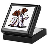 Tiny Liver Brittany Keepsake Box