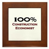 100 Percent Construction Economist Framed Tile