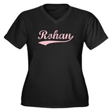 Vintage Rohan (Pink) Women's Plus Size V-Neck Dark