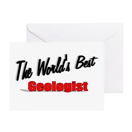 """The World's Best Geologist"" Greeting Card"