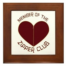Zipper Club Framed Tile