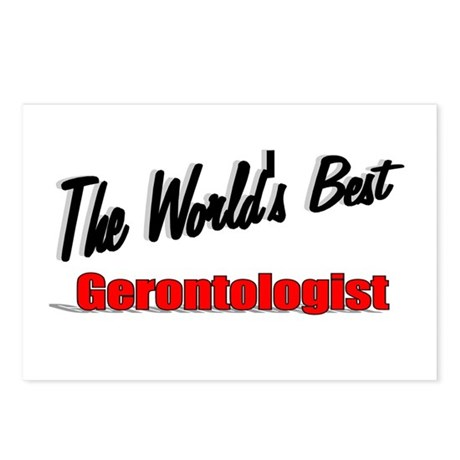 """The World's Best Gerontologist"" Postcards (Packag"