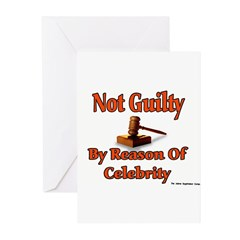 Not Guilty By Reason Of Celeb Greeting Cards (Pack