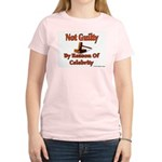 Not Guilty By Reason Of Celeb Women's Pink T-Shirt